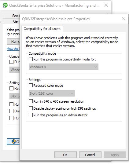 QODBC-Desktop] QB Begin Session Failed  Error = 80040408, Could not