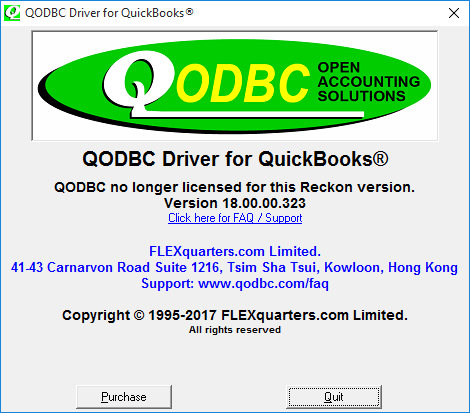 QODBC-Desktop] Troubleshooting - QODBC no longer licensed for this