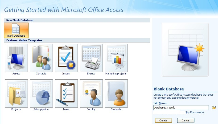 how to open ms access