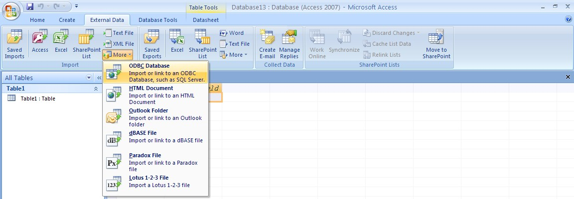 QODBC-Desktop] How to Use QODBC with Microsoft Access 2007