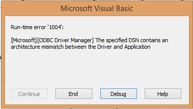 qodbc desktop qodbc reports architecture mismatch