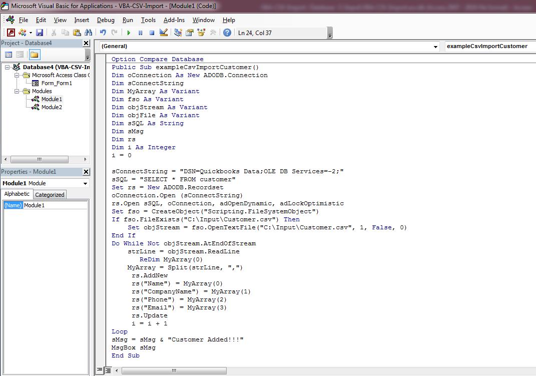 QODBC-ALL] How to Import data to QuickBooks through CSV