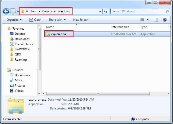 Windows explorer support Foto