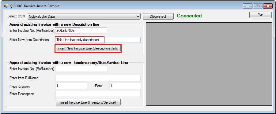 QODBC-Desktop] Sample VB NET source code for Inserting InvoiceLine