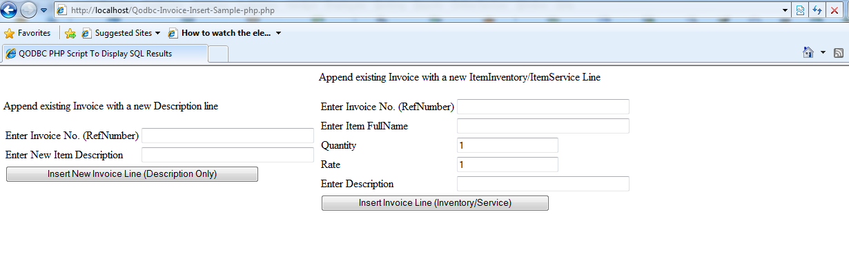 QODBCDesktop Sample Code For Inserting InvoiceLine To Existing - Php invoice script