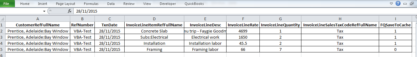 QODBCDesktop How To Insert Invoice Using Excel VBA Powered By - Create invoice from excel data