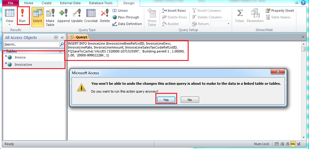 QODBCDesktop How To Create Invoices Through MS Access Using QODBC - Invoice software microsoft access