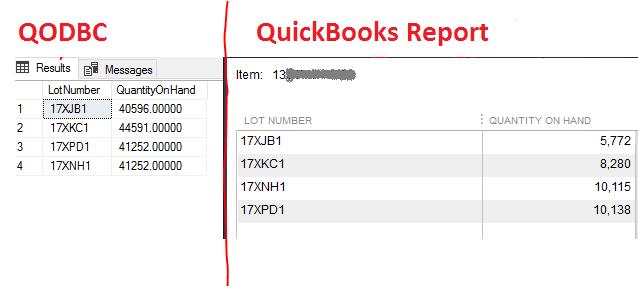QODBC-Desktop] Troubleshooting - Serial Number/Lot Number