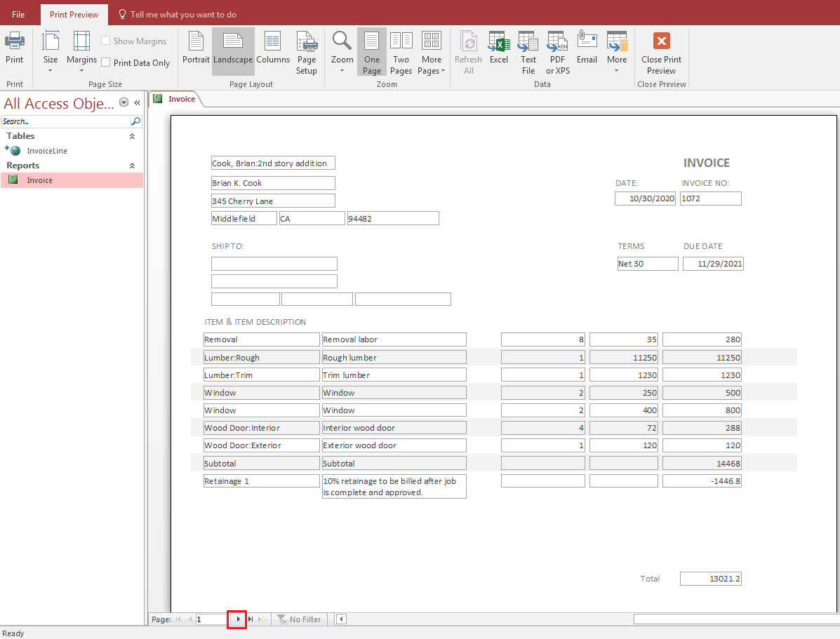 QODBC-ALL] How to export QuickBooks Invoices into MS Access