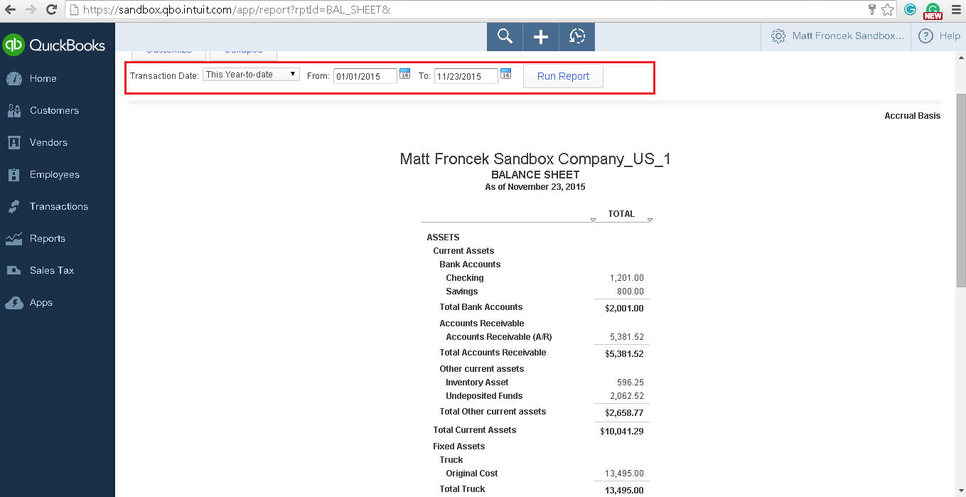 QODBC-Online] How to run a Balance Sheet Detail Report in QODBC ...