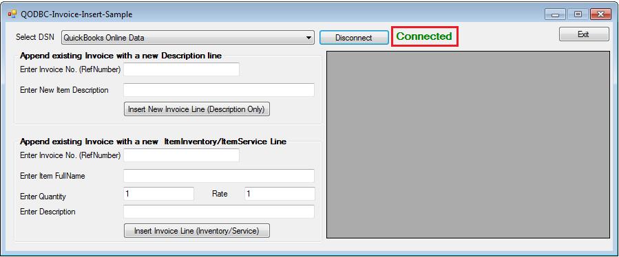 QODBC-Online] Sample C# NET Code for Inserting InvoiceLine