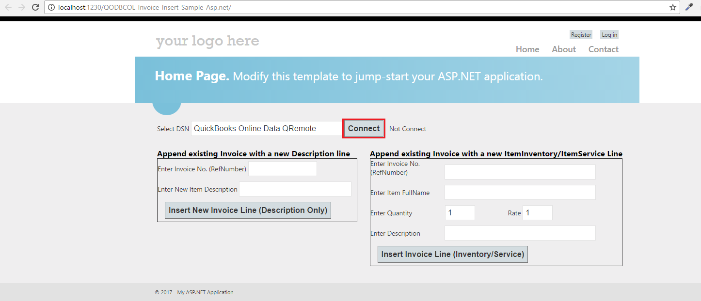 QODBC-Online] Sample C# NET Web Application for Inserting
