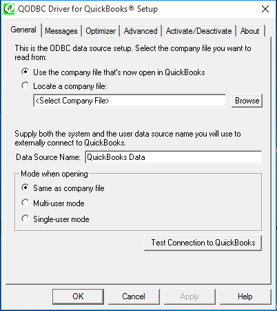 QODBC-ALL] How to setup QODBC Optimizer and where are the