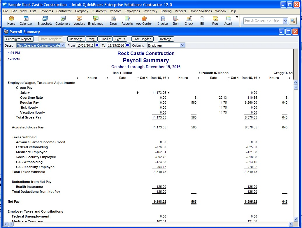 Quickbooks report templates 28 images quickbooks 2013 for Quickbooks payslip template