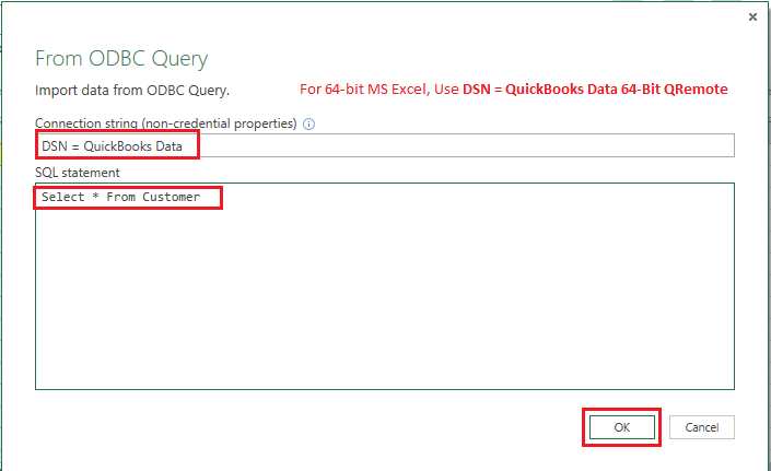QODBC-Desktop] How to Use QODBC with MS Excel Power Query