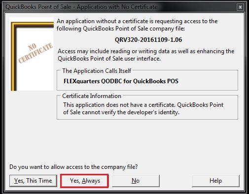 QODBC-POS] Using QuickBooks POS data remotely via QODBC POS