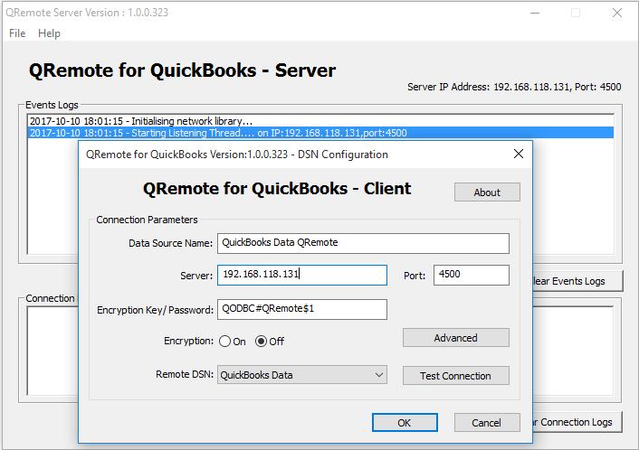 QODBC-Desktop] Using QuickBooks data remotely via QODBC