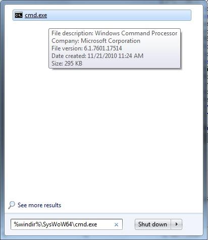 QODBC-Desktop] How to Run VB Script on 64-bit Operating System