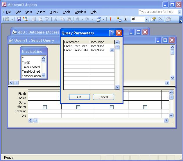 QODBC-Desktop] How to Use Prompted Date Ranges in MS Access