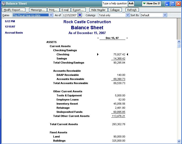 qodbc desktop how to run a balance sheet standard report in qodbc