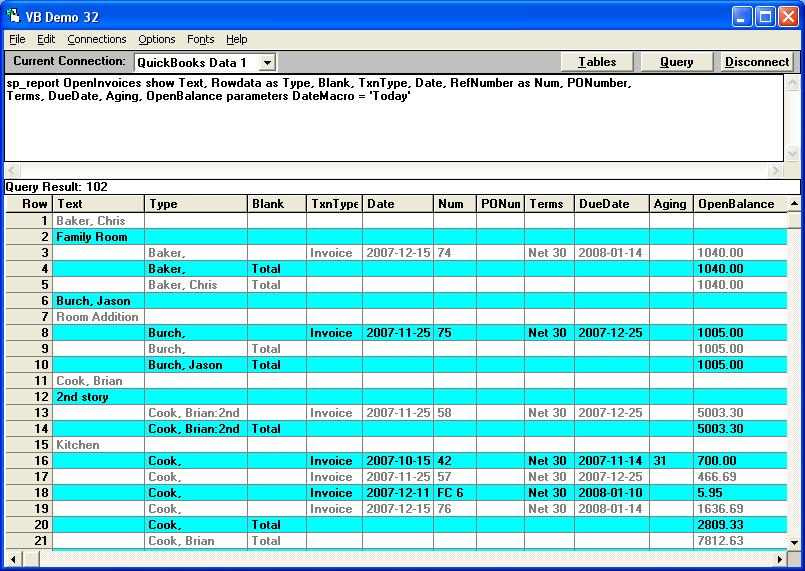 QODBCDesktop How To Run An Open Invoices Report In QODBC Powered - Open invoice report