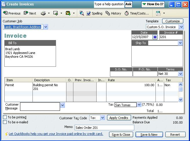 QODBCDesktop How To Convert A Sales Order Into An Invoice - Order invoice