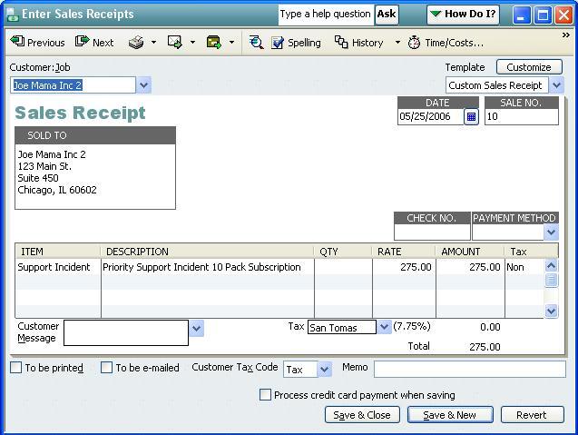 [QODBC-Desktop] How to create a Sales Receipt using QODBC - Powered by Kayako Help Desk Software