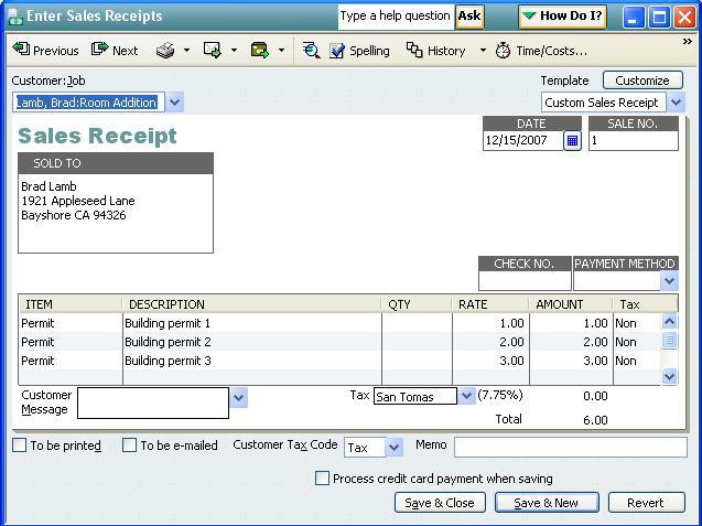 qodbc desktop how to create a sales receipt using qodbc powered