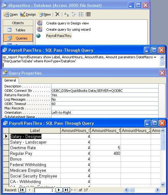 QODBC-Desktop] How to create Pass-Through Report using